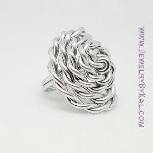 Twisted Wire Wrapped Statement Ring
